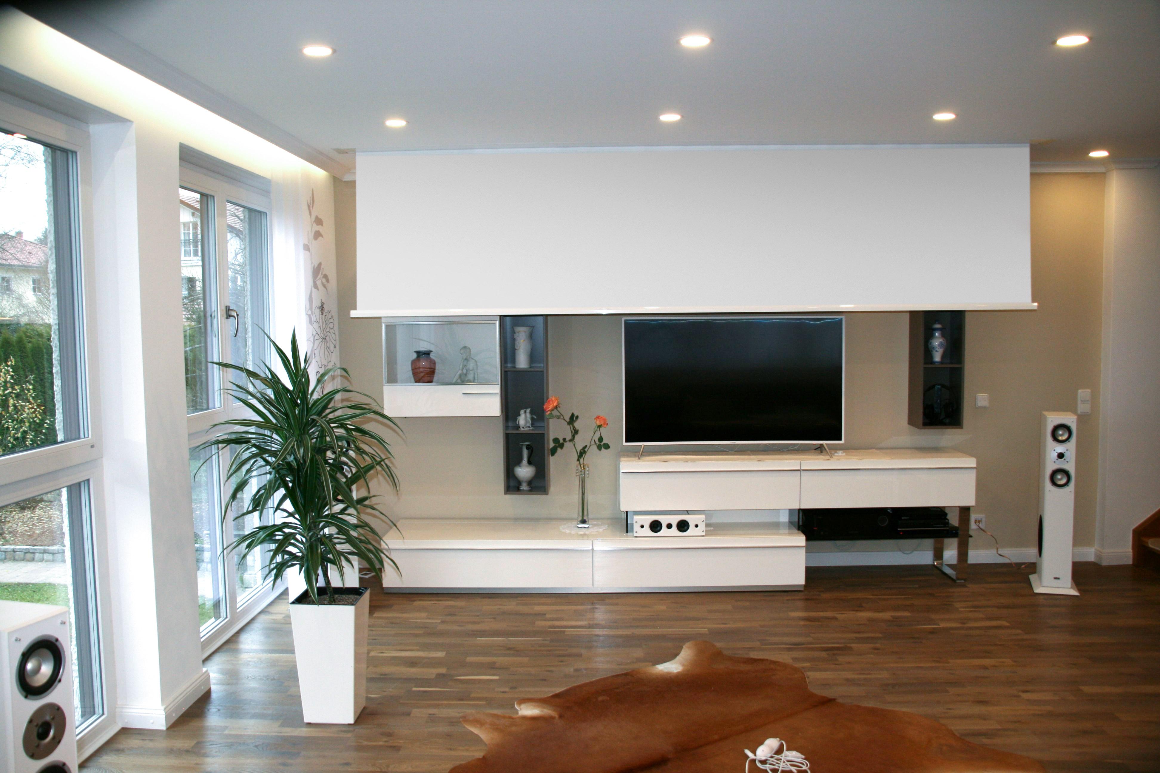 deckeneinbau leinwand kurzanleitung. Black Bedroom Furniture Sets. Home Design Ideas