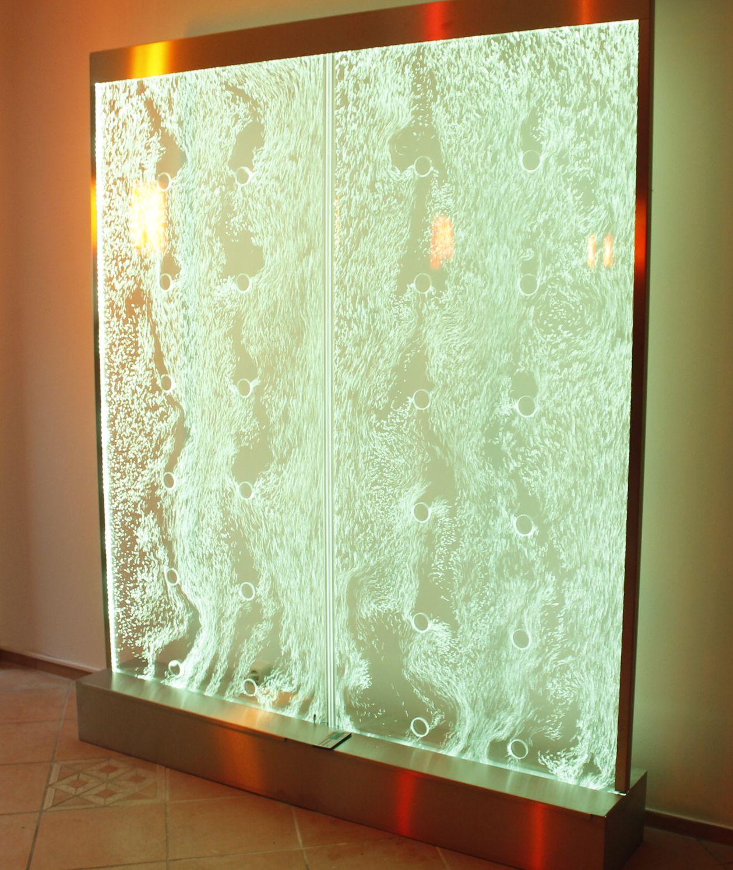 Wasserwand Edelstahl Wasserwande Effekt Wasserfall Wand