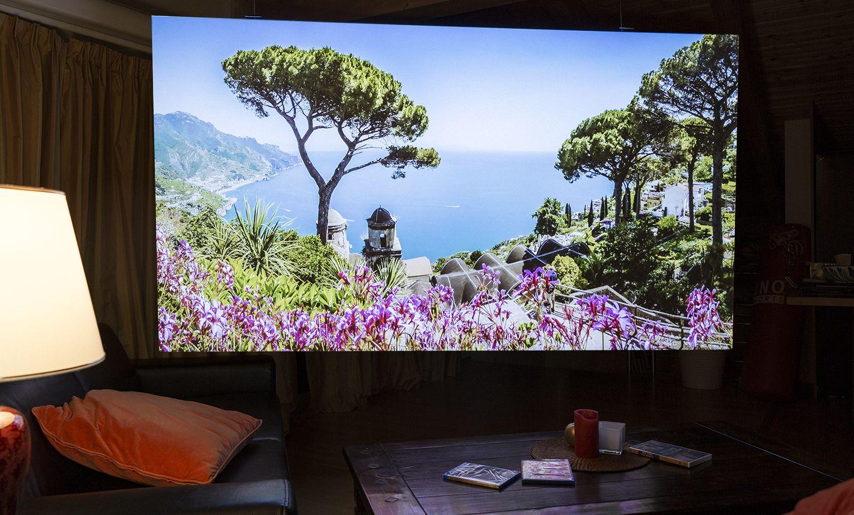 lichtbildwand leinwand f r projektor r ckprojektionsfolie deckenmontage deckeneinbau. Black Bedroom Furniture Sets. Home Design Ideas