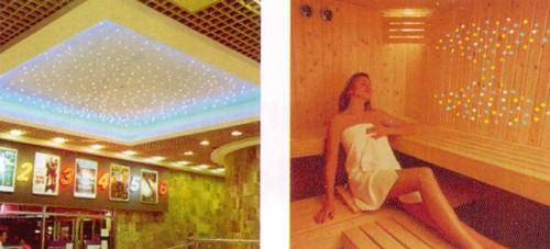 sauna sternenhimmel licht farbwechsler glasfaser. Black Bedroom Furniture Sets. Home Design Ideas