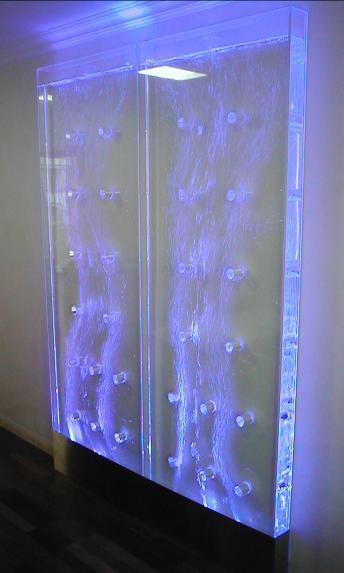 Wassers ulen sprudels ulen wasserw nde wasserwand herstellung - Wasserwand wohnzimmer ...