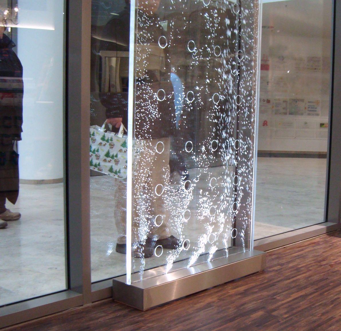 Wasserwand Edelstahl Wasserwände Effekt Wasserfall Wand