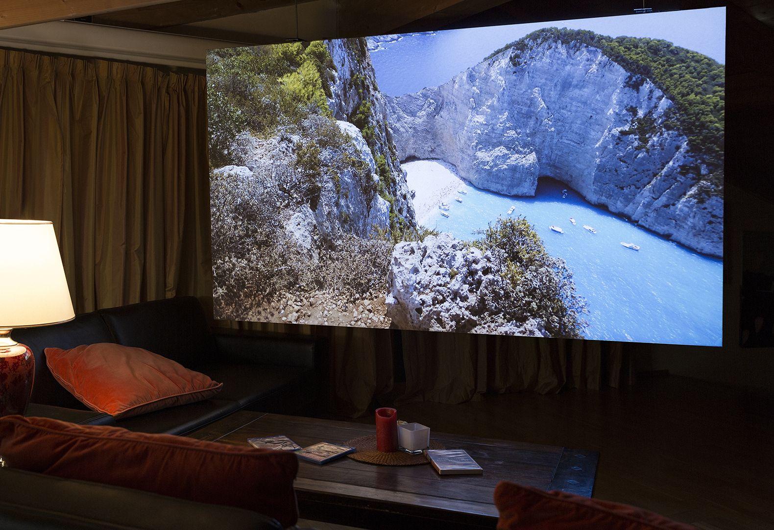 Beamer leinwand heimkino projektionswand g nstig kaufen - Beamer im wohnzimmer ...