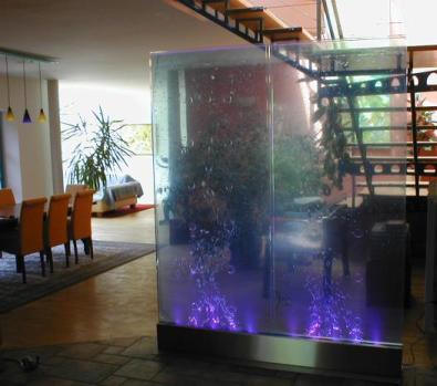 Wasserwand edelstahl wasserw nde design wasserfall wand - Wasserwand wohnzimmer ...
